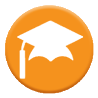 Graphic of graduation hat icon