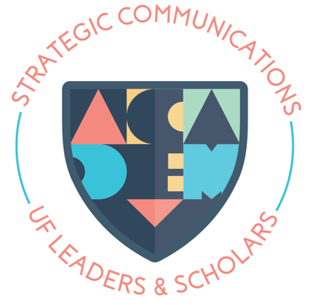 Word art logo for Strategic Communications academy